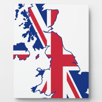 UK Flag Map Plaques