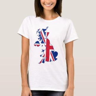 UK Flag Map T-Shirt