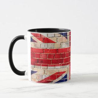 UK flag on a brick wall Mug