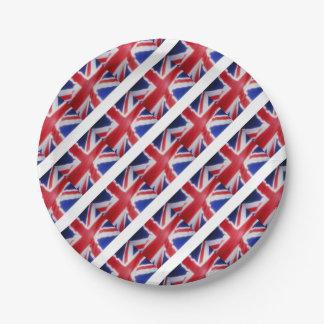 UK FLAG PAPER PLATE