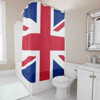 uk flag shower curtain