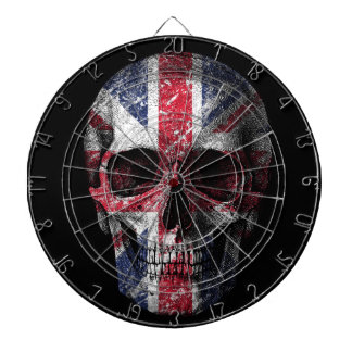 UK flag skull Dartboard