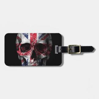 UK flag skull Luggage Tag