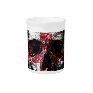 UK flag skull Pitcher