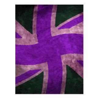 Uk Flag Slightly Twisted Purple Postcard