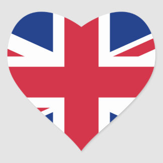 UK FLAG STICKER HEART SHAPED OPTION >>>