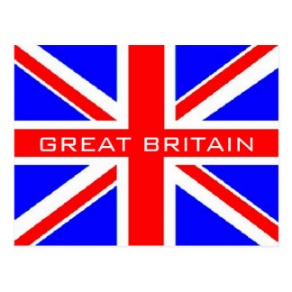 UK flag Union Jack flag postcard