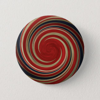 UK Flag, Very Twisted, Whirlpool 6 Cm Round Badge