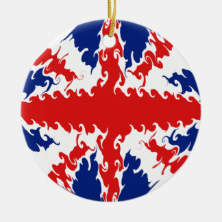 UK Gnarly Flag Christmas Tree Ornaments