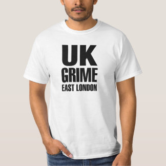 UK grime east london black color T-Shirt