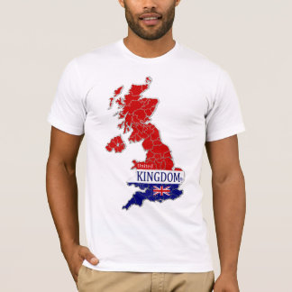UK Map Designer Shirt Apparel Sale; Men or Ladies