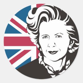 UK mourns Margaret Thatcher, England's Iron Lady Round Sticker