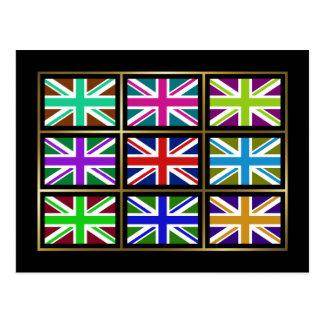 UK Multihue Flags Postcard