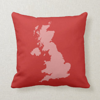 UK outline Cushion - Red
