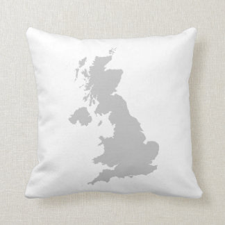 UK outline Cushion - White