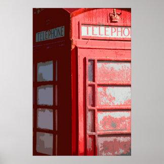 UK  PHONE BOX POSTER