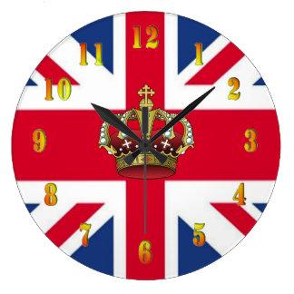 UK Queen Crown Wall Clock