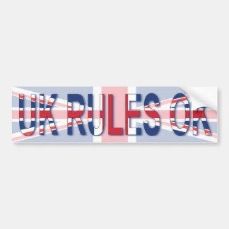 UK Rules OK Bumper Sticker