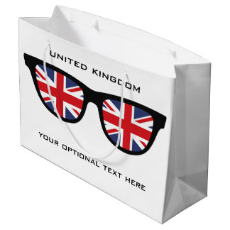UK Shades custom text & color gift bag