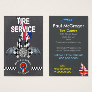 UK Tire Center Business Card