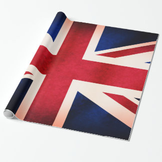 UK Union Jack British Distressed Grunge Flag Wrapping Paper