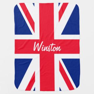 UK Union Jack British Flag Personalized Baby Blanket