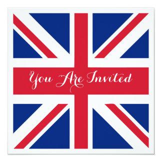 UK Union Jack Flag British Wedding 13 Cm X 13 Cm Square Invitation Card