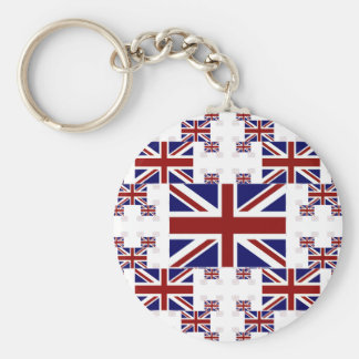 UK Union Jack Flag in Layers #2 Keychains