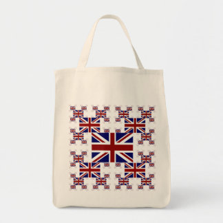 UK Union Jack Flag in Layers #2 Tote Bag