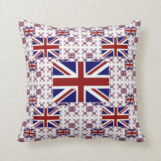 UK Union Jack Flag in Layers Throw Pillow