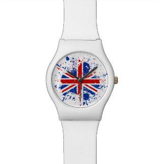 UK Union Jack Splash Colors Flag Watch