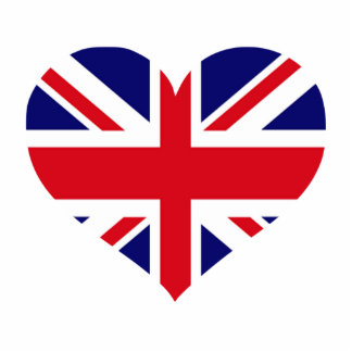 UK Union Jack Standing Photo Sculpture