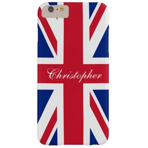 UK United Kingdom British Flag Union Jack Barely There iPhone 6 Plus Case