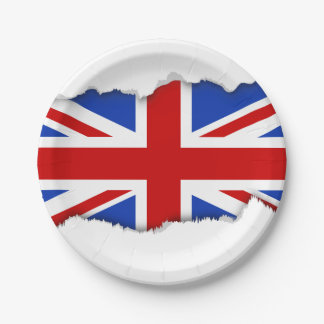 Uk United Kingdom Flag 7 Inch Paper Plate