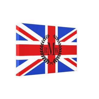 Uk United Kingdom Flag Canvas Print