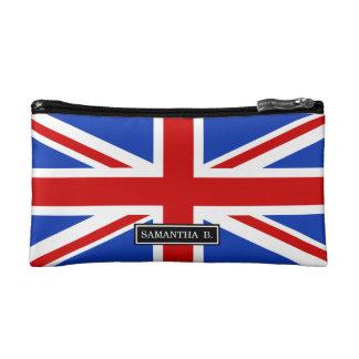 Uk United Kingdom Flag Cosmetic Bags