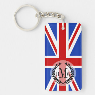 Uk United Kingdom Flag Double-Sided Rectangular Acrylic Key Ring