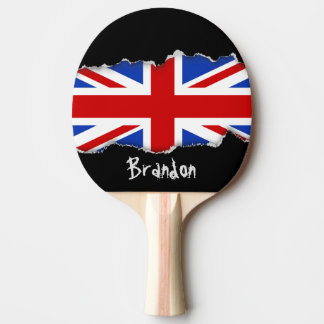 Uk United Kingdom Flag Ping Pong Paddle