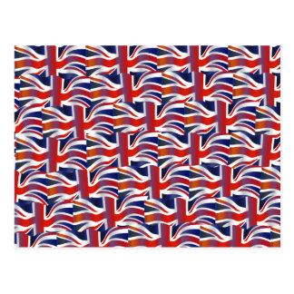 Uk Wavy Flag Wallpaper Postcard