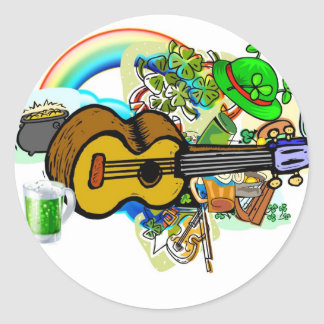 Uke of the Irish Round Sticker