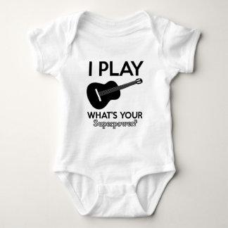 ukelele real designs baby bodysuit