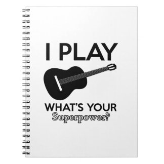 ukelele real designs notebook