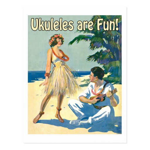 Ukes Are Fun! Postcard
