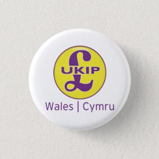 UKIP Wales Cymru Logo 3 Cm Round Badge