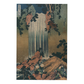 Ukiyo-e Drawing of Yoro waterfall in Mino Japan Wood Wall Art
