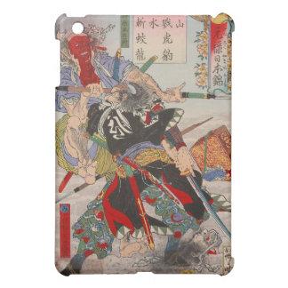 Ukiyo-e Japanese Painting Of A Samurai Fighting Cover For The iPad Mini