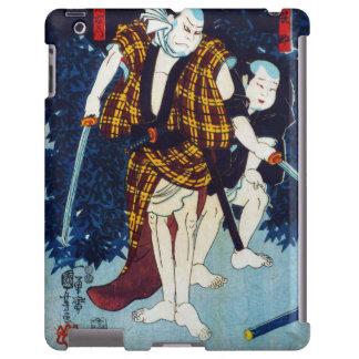 Ukiyo-e Japanese Painting Of Two Kabuki Players