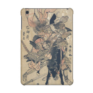 Ukiyo-e Old Japanese Painting Of Two Samurais iPad Mini Covers