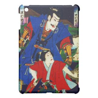 Ukiyo-e Old Japanese Painting Of Two Samurais iPad Mini Covers