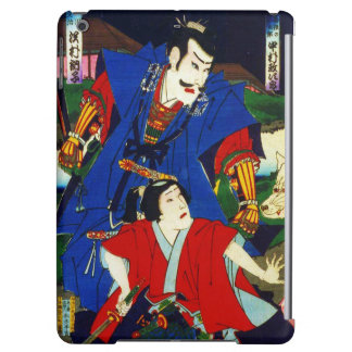 Ukiyo-e Old Japanese Painting Of Two Samurais Cover For iPad Air